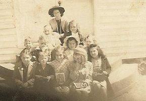 My Mother and her Sunday School Class - Sharon Methodist Church, Naruna, VA. about 1940.