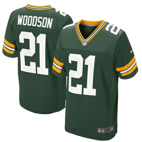 Elite Youth Nike Green Bay Packers #21 Charles Woodson Team Color Green NFL Jersey$79.99