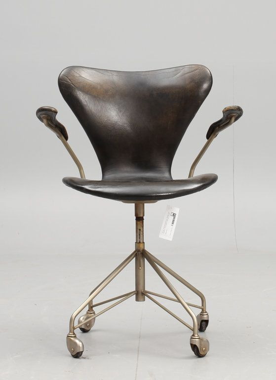 Arne Jacobsen 3217Decor, Danishes Design Furniture, Desks Chairs, Swivel Chairs, Office Chairs, Offices Chairs, Kids Funny, Arne Jacobsen, Leather Chairs