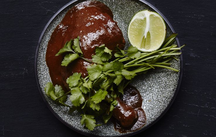 Chilhuacle negro chiles give this mole its traditional flavor and should not be substituted. They're difficult to find in the U.S., but you can find them—and the other chiles you'll need—at spicetrekkers.com.