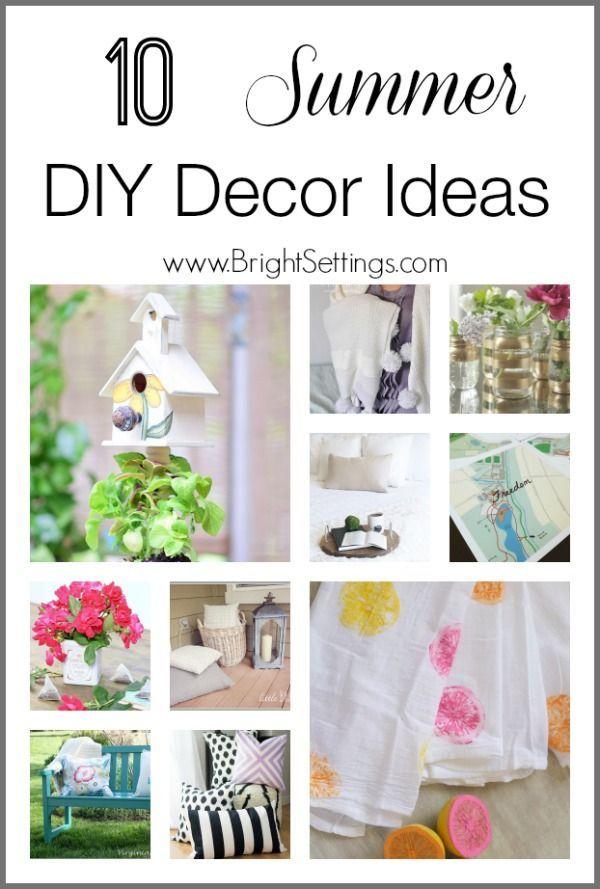 10 Summer Diy Decor Ideas The Bright Ideas Blog Diy Decor Summer Diy Diy Summer Decor