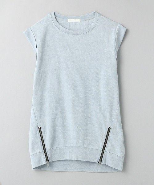 JEANASIS(ジーナシス)のインディゴロングZIPプルオーバー/564127 (Tシャツ/カットソー) ライトブルー