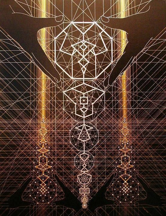 The architecture of GOD. The universe is created by a consciousness which manifests in physical reality through a blueprint that we call Sacred Geometry which repeats over and over giving the illusion of linear time.