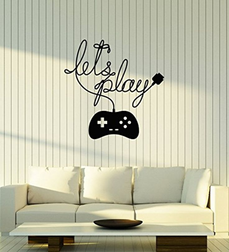 Art of Decals WallStickers4ever Vinyl Wall Decal Gaming Phrase Gamepad Video Games Gamer Room