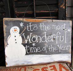 Primitive Schneemann-Zeichen Weihnachten von SweetLibertyBarn