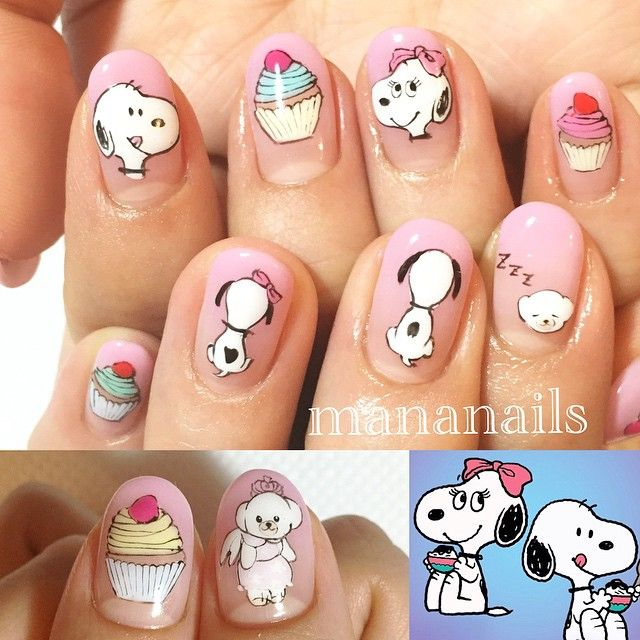 """snoopy"" More - 112 Best Uñas Images On Pinterest Pretty Nails, Nail Art And Nailart"