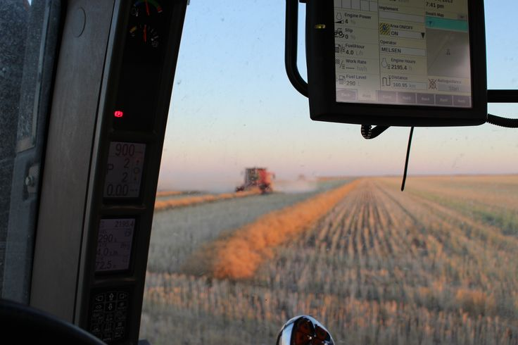 View from the tractor cab