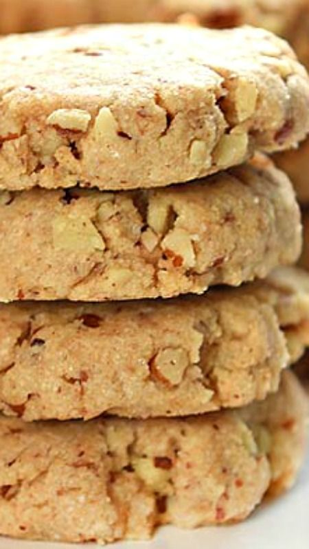 Pecan Sandie Recipe ~ Crunchy, buttery and nutty goodness all mixed together in these Pecan Sandies to make a classic cookie favorite.                                                                                                                                                     More