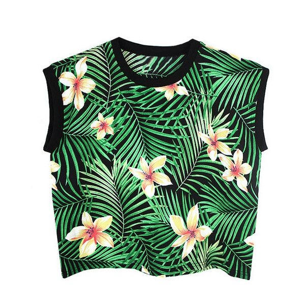Tank top - Tropical found on Polyvore