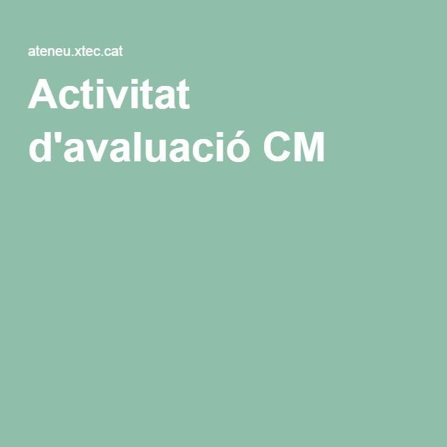 Activitat d'avaluació CM