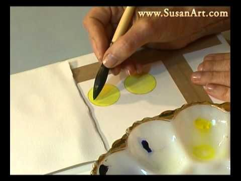 Watercolor Lesson - How To Mix Perfect Greens