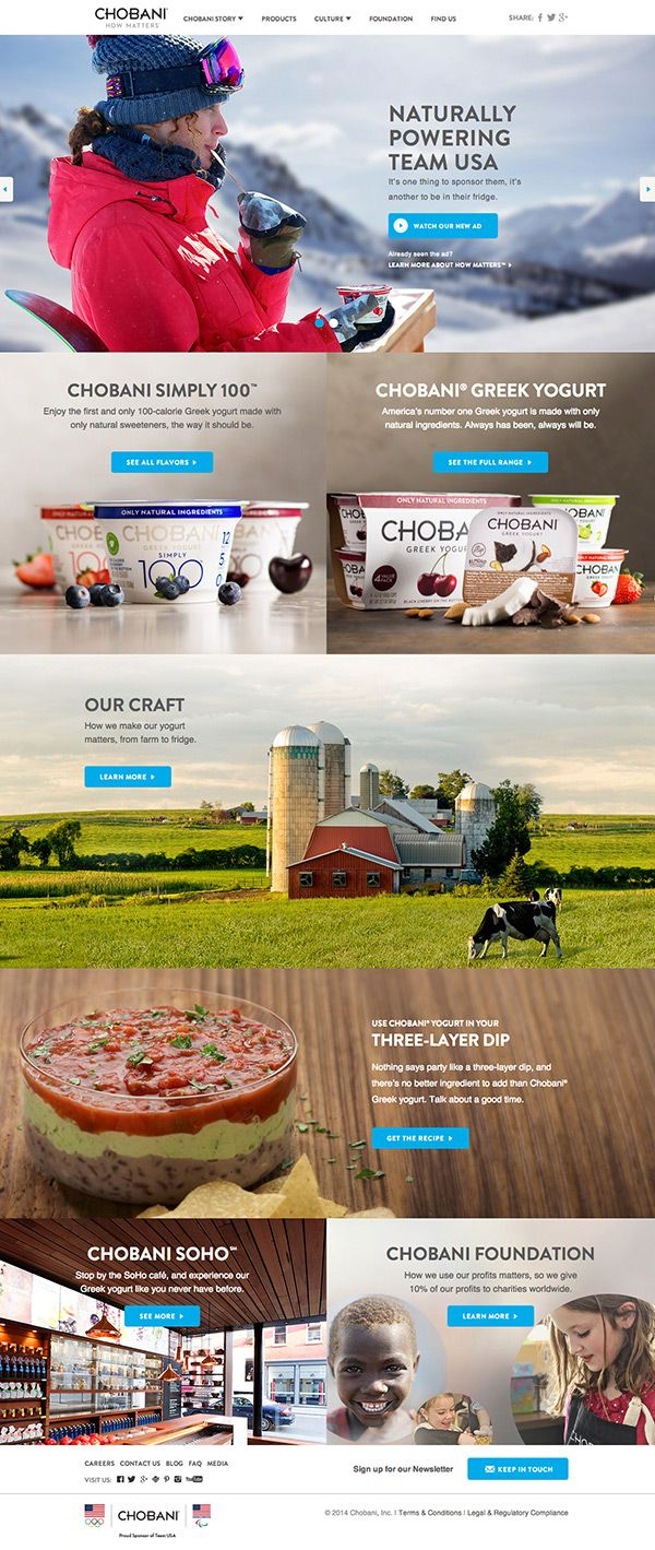 Chobani Website Design by http://Jen.Lu