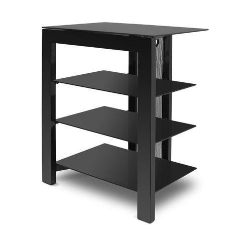 De Conti ARCA XL Large 4 Shelf Hi-Fi Stand in Black (500MM Shelf Depth) RACK - Do Good Audio