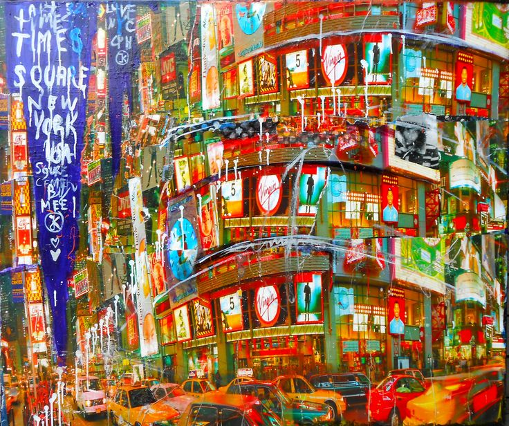 Available @ http://marishagulmann.com/ #art #popart #streetart #newyork #timessquare #circus #decor #paintings #artwork #colors #home #invest