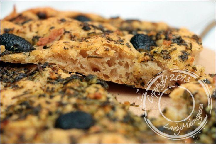 Focaccia à la persillade et aux olives de Kalamata de Yotam Ottolenghi