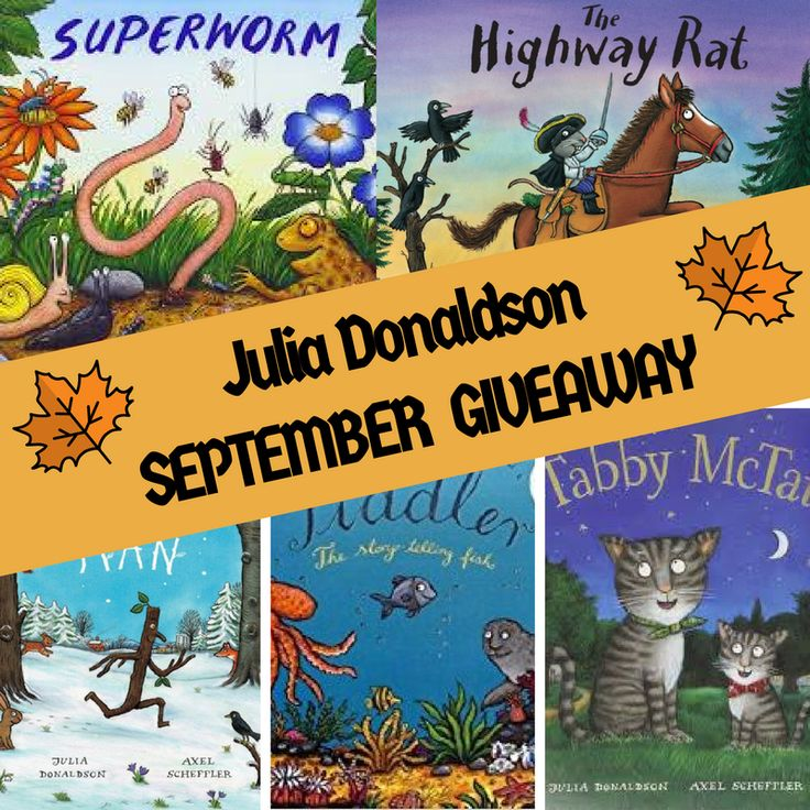 Win 5x Julia Donaldson Picture Books – September Giveaway