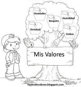 Image Of Para Colorear Los Valores Pintar Y Jugar Dibujos Para