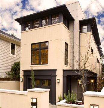 ... with a 25' height limit presented challenges in creating these single family homes. The resulting designs combine elements of both urban townhomes and ...