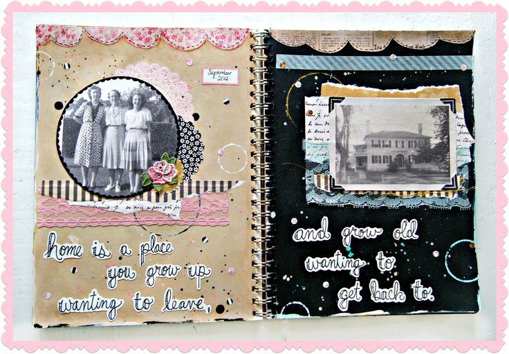 Jenny and Aaron's awesome art journaling