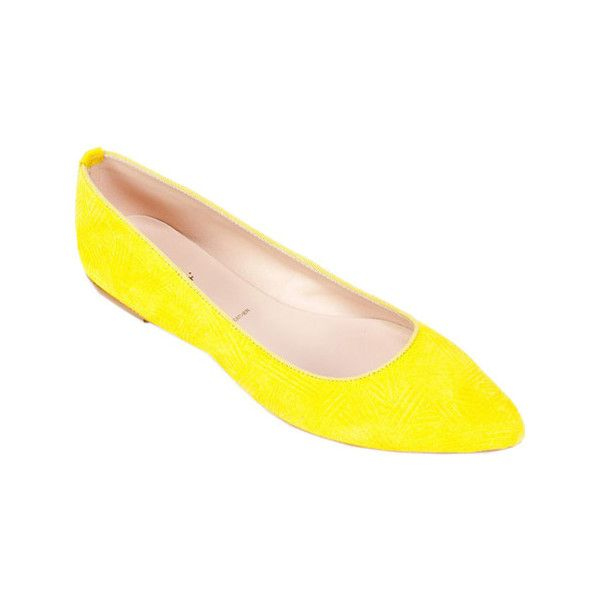 Women's Summit White Mountain Kamora Flat ($77) ❤ liked on Polyvore featuring shoes, flats, ballet flats, casual, ballet pumps, ballerina pumps, ballet shoes and yellow ballet flats