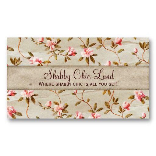 vintage floral pink shabby chic business card vintage. Black Bedroom Furniture Sets. Home Design Ideas