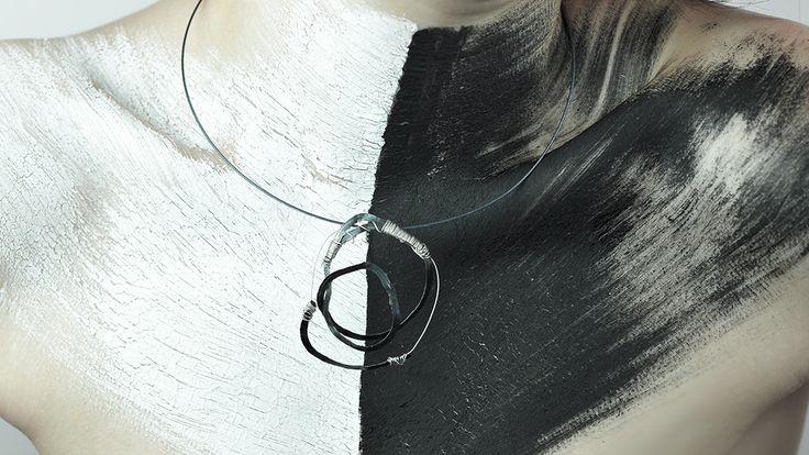 '07 #upcycle #upcycleart #recyclingart #recycle #track #work #metal #jewelrydesign #art #necklace #jewelry #handmadejewellery #design #fashionjewelry #custom #pretty #geridönüşüm #accesories #art #cosmic #vsco #blak #white #cycle #handmade #special #elifsozkesen