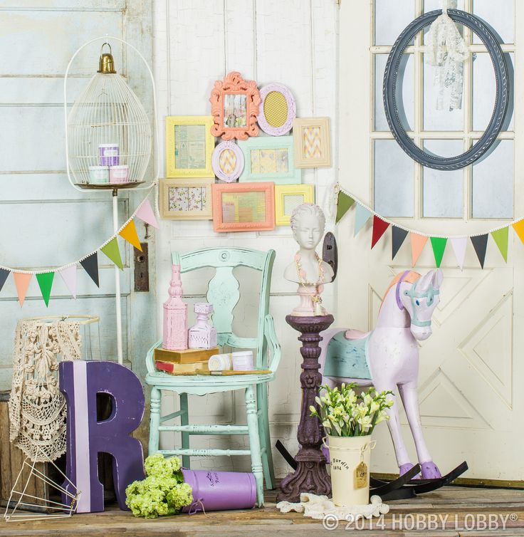 hobby lobby project talkin chalky chalk chalk paint frames table decor lamp furniture glass wood distress repurpose chair basket jar dresser door