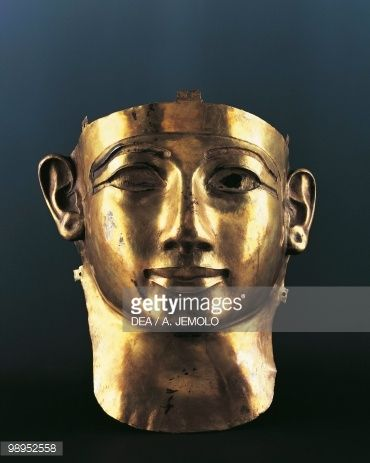 Incomplete gold mask of Sheshena II, from Tanis