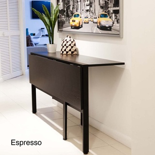 @Overstock - This space saving folding table is perfect for a small apartment in a city where room is limited. Open dining table up and enjoy a nice dinner with friends and family. Close it half way and use it as a console table or even a desktop. http://www.overstock.com/Home-Garden/Tokyo-Drop-Leaf-Rectangle-Dining-Table/7123645/product.html?CID=214117 $213.99