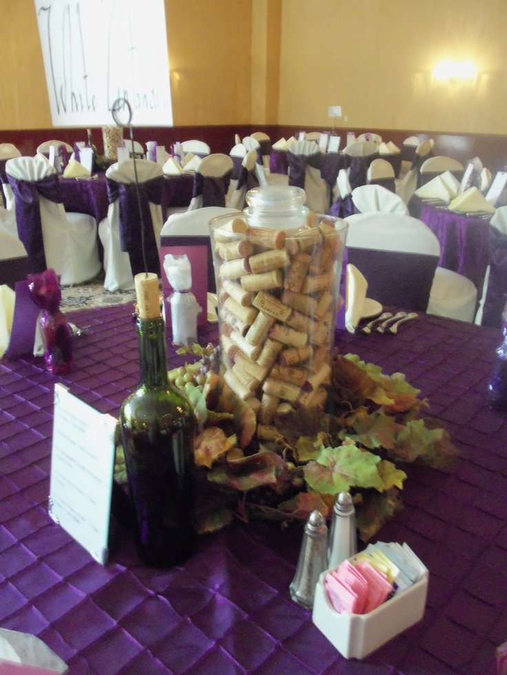 79 best wine theme weddings images on pinterest weddings wedding wine themed wedding centerpiece junglespirit Images