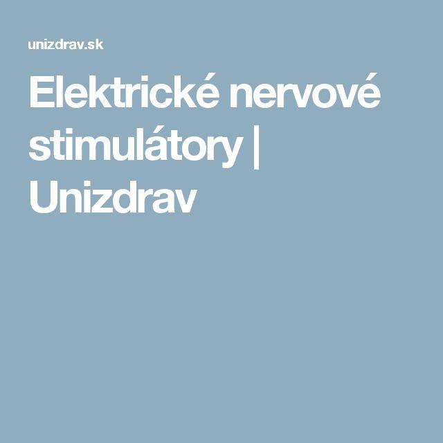 Elektrické nervové stimulátory   Unizdrav