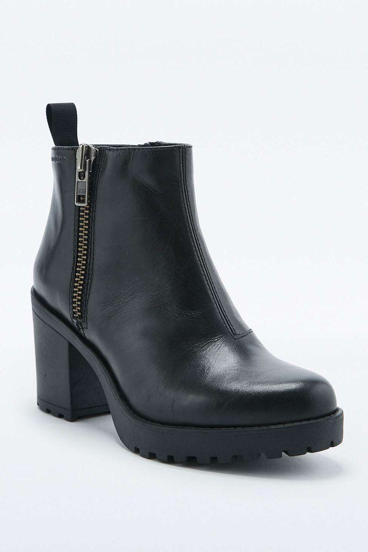 Vagabond Grace Black Side Zip Ankle Boots LOVE these