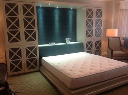 Custom Murphy bed can be used with any mattress