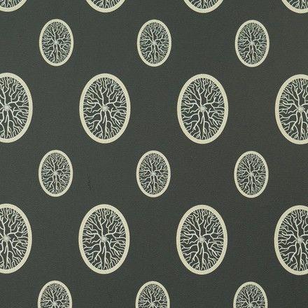 Diamonds Serisi Yuvarlak Damar Kristal Duvar Kağıdı (Siyah)