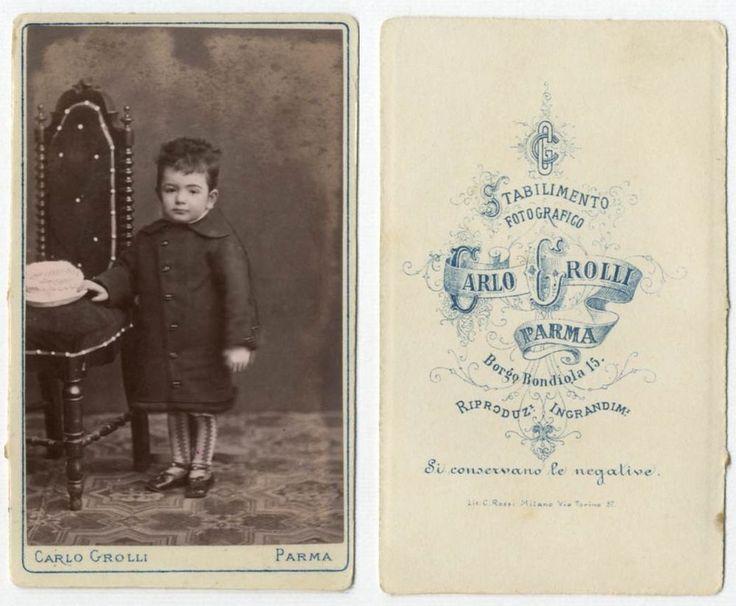 BIMBA CDV 841 Foto F.Gabinetto.Carte da Visite.Albumina.Moda.Carlo Grolli Parma