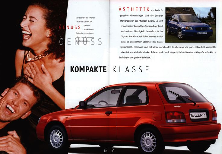https://flic.kr/p/FQKbQx | Suzuki Baleno 3-Türer & 4-Türer; 1999_2  | auto car brochure | by worldtravellib World Travel library - The Collection