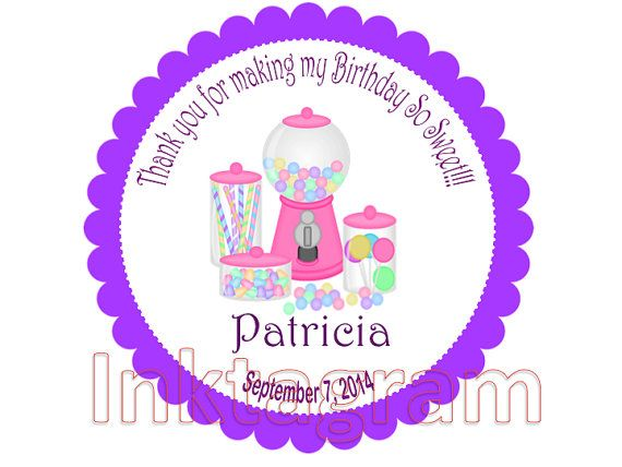 Personalized candy sticker happy birthday custom stickers labels round labels gift