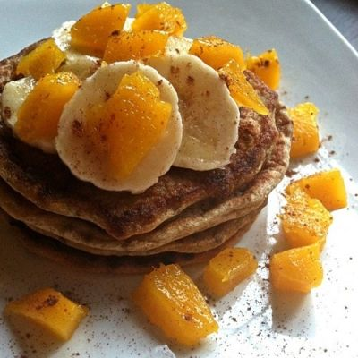 ... Mango Chia Pancakes - Gluten Free Fruit Pancakes made with oat flour