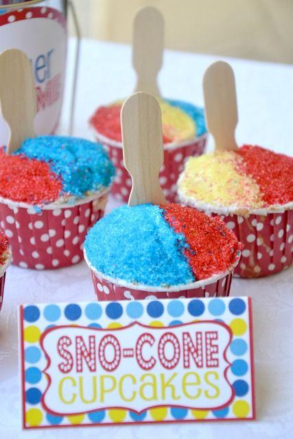 Sno-cone cupcakes. Brilliant!