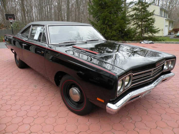 Triple Black '69 Hemi Road RunnerBlack 69, Runners Hemi, 69 Hemi, Plymouth Hemi, 1969 Roads, Mopar Mad, Roads Runners, 1969 Plymouth, Hemi Roads