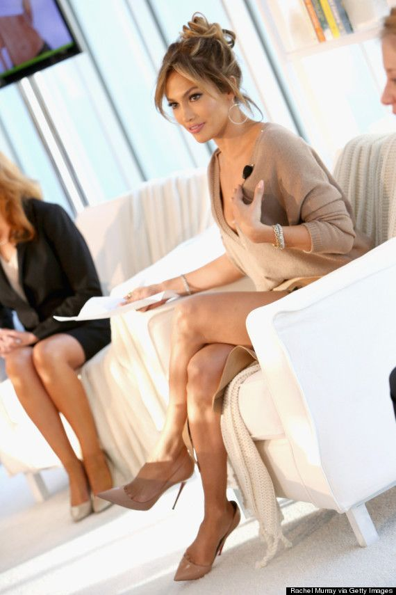 Jennifer Lopez Is Chic In A Thigh-High Wrap Skirt For BodyLab Launch