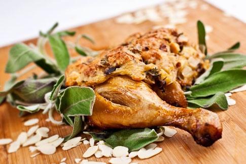 Kuře s nádivkou po Moravsku