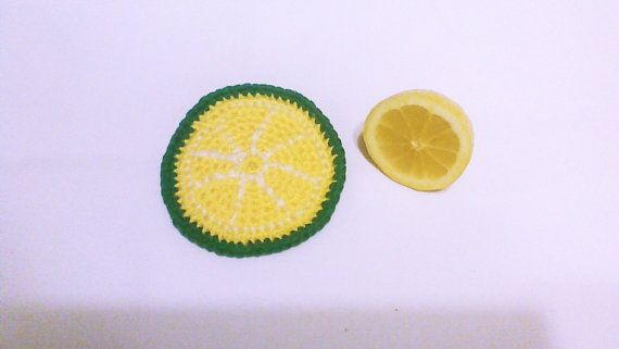 Hey, I found this really awesome Etsy listing at https://www.etsy.com/listing/173139876/lemon-crochet-coaster-crochet-home-decor