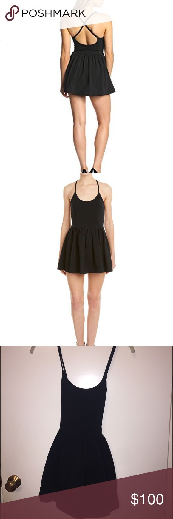 French Connection Marina Plains Skirted Romper This adorable romper looks like a dress with the over skirt and has a cross back with adjustable straps. It's very stretchy and comfortable and new with tags. French Connection Dresses Mini