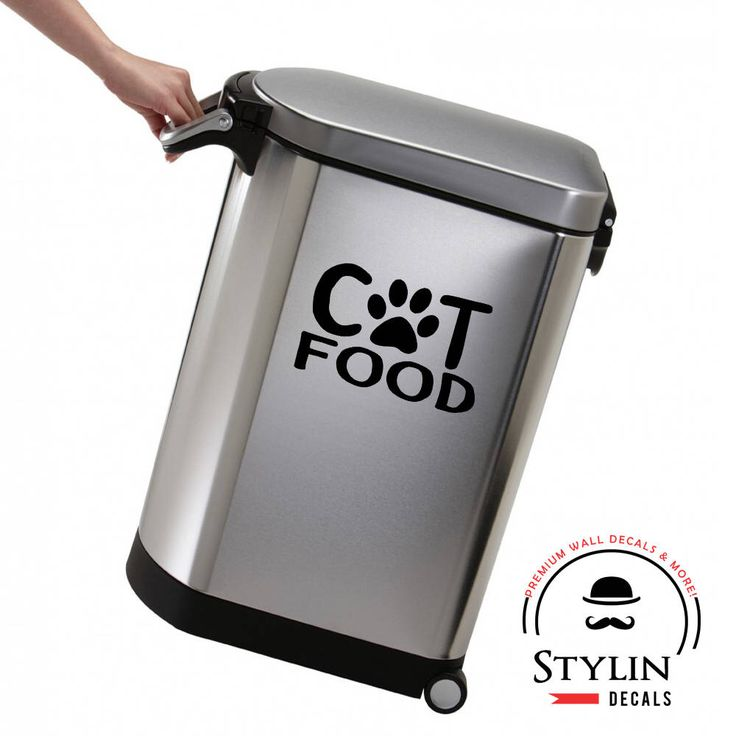 CAT FOOD DECAL/Cat Food Storage/Pet Food Storage/Organization/Pantry Organization/Cat Food Stickers/Vinyl Stickers/ Removable/Peel and Stick by stylindecals on Etsy https://www.etsy.com/listing/549460999/cat-food-decalcat-food-storagepet-food