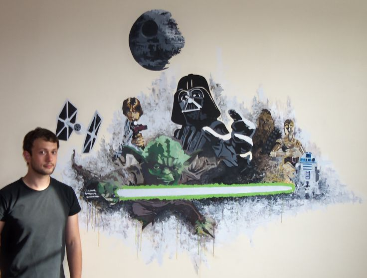 """Fresque star wars"" Août 2014 - acrylique - David Mostacci"