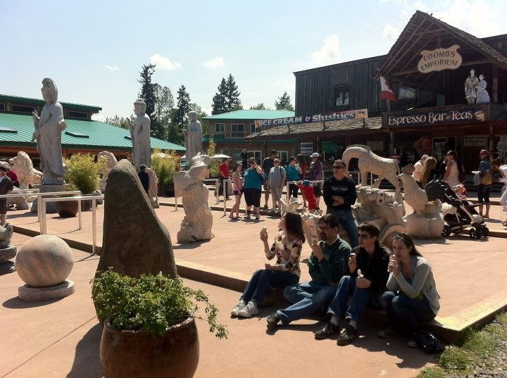 Eclectic Coombs village near Parksville and Qualicum Beach
