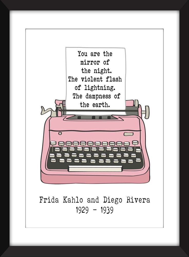Frida Kahlo Romantic Love Letter 11 x 14/8 x 10/5 x 7 A3/A4/A5 Print , Gift for Valentines Day