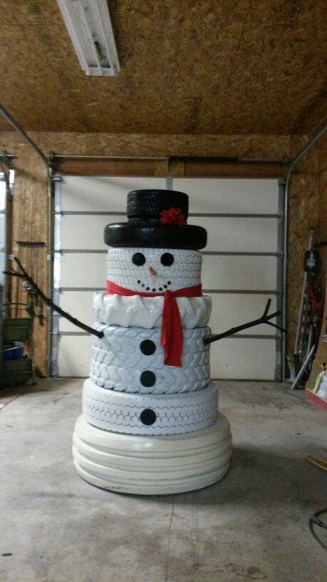 28 best images about xmas decorations on pinterest for Snowmen made from tires