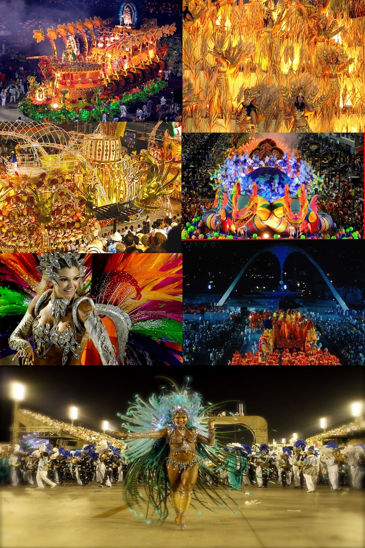 rio carnival. I want to go see it, but also want to dance in it , would take some serious training prep, 8 hrs hard core dancing in heels , phew!  Need some friends to sign up ;)